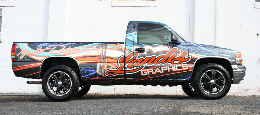 Pickup truck landis graphics